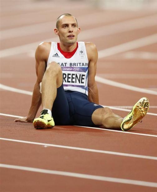 OUT OF THE MEDALS: Disappointment for Dai Greene as he fails to get amongst the medals in the men's 400m hurdles final