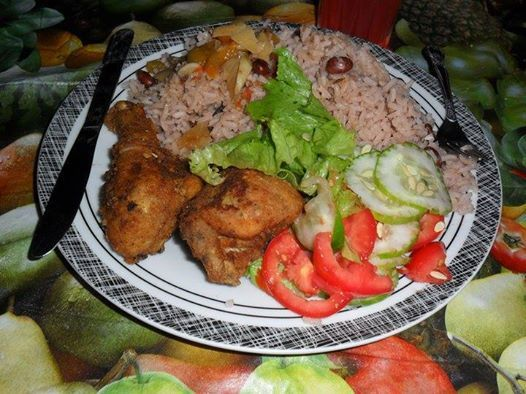 easy jerk chicken and rice and peas recipe