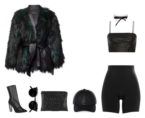 """""""Don't hurt yourself"""" by youre-no-angel-baby ❤ liked on Polyvore featuring SPANX, Balmain, T By Alexander Wang, Fallon, Finders Keepers and Wilfred"""