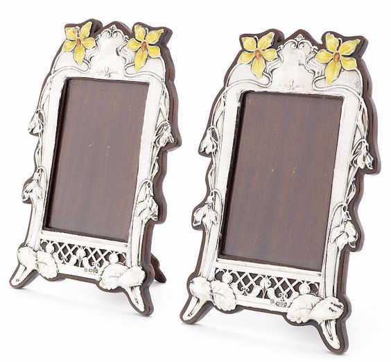 James william deakin art nouveau silver frames 1905 for Miroir art nouveau