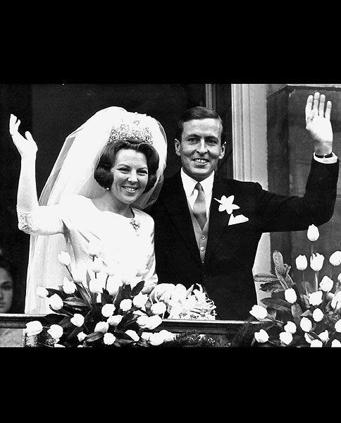 Königin Beatrix, bei ihrer Hochzeit mit Prinz Claus