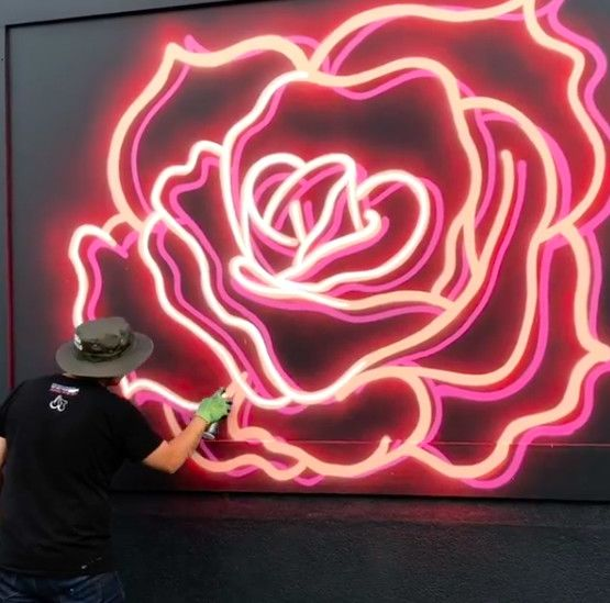 Artist Creates Fake Neon Signs With Spray Paint Aol In 2020