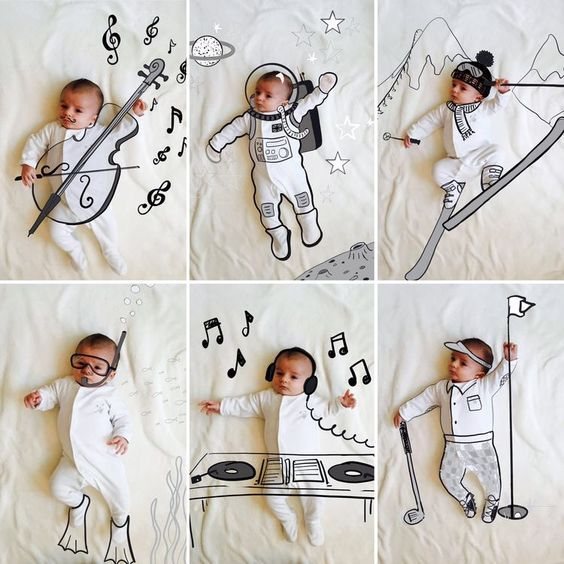 Best Baby Photoshoot Ideas At Home Diy Baby Photoshoot Funny Baby Photos Newborn Baby Photography