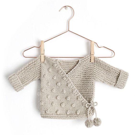 Knitted Kimono Jacket - NUR [ Baby Knitting Pattern & Tutorial ] FREE
