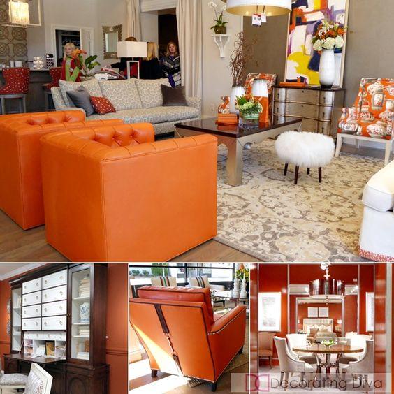 ORANGE: 2016 color home decor trends HPMKT 2015 | The Decorating Diva, LLC