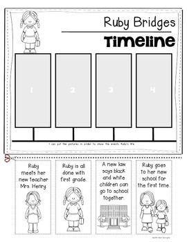 Ruby Bridges {Timeline} for Kindergarten and First Grade Social ...