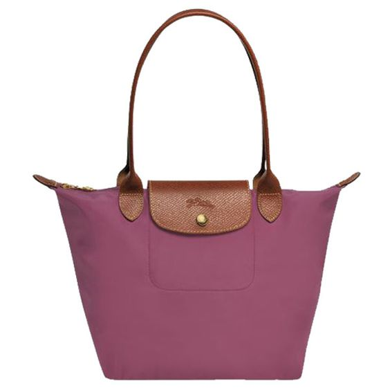 Longchamp Le Pliage Medium Shoulder Tote ($125) ❤ liked on Polyvore featuring bags, handbags, tote bags, fig, leather handbags, white tote, foldable tote bag, shoulder tote and tote