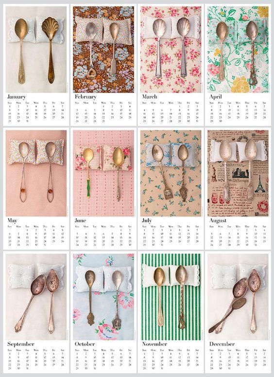 """The Art of Spooning"" 2012 Calendar by Petek Design"