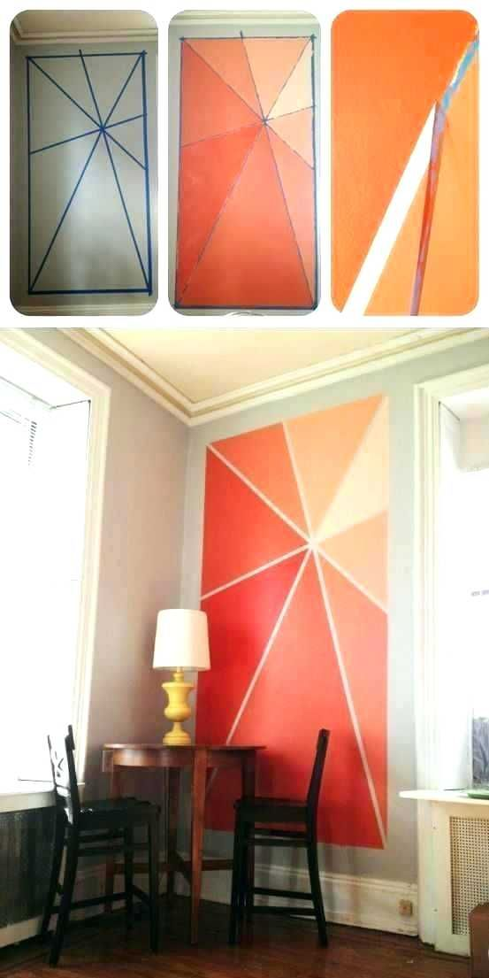 Triangle Wall Paint Patterns Wall Paint Patterns Paint Interior