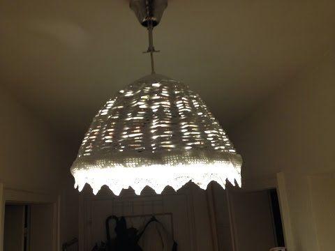 Lampenschirm aus Papierröllchen - YouTube