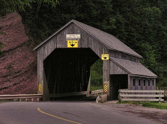 Irish River Covered Bridge New Brunswick Canada: