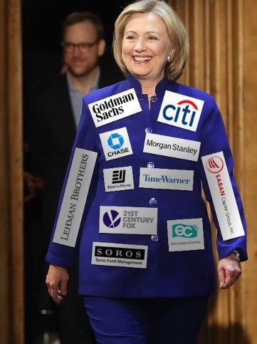 """HILLARY BE LIKE, """"I WANNA END CORRUPTION IN WALL STREET."""""""