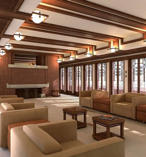 Famous Home Designed By Frank Lloyd Wright Recreated With
