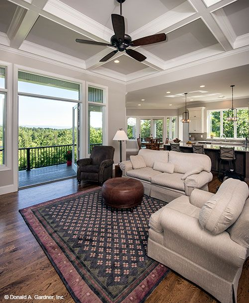 Great Room Of The Butler Ridge Home Plan 1320 D