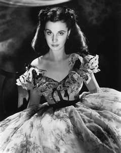 Vivian Lee as the beautiful and scheming Scarlett O'Hara in Gone with The Wind:
