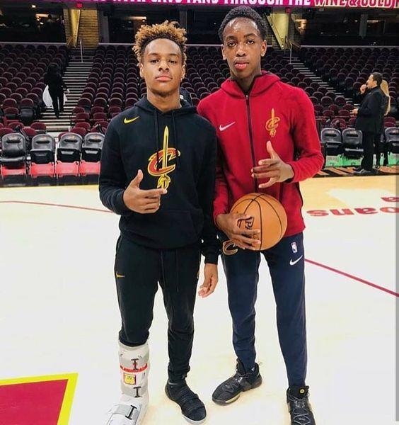 LeBron James Jr & Zaire Wade.#PeanutButterAndJelly