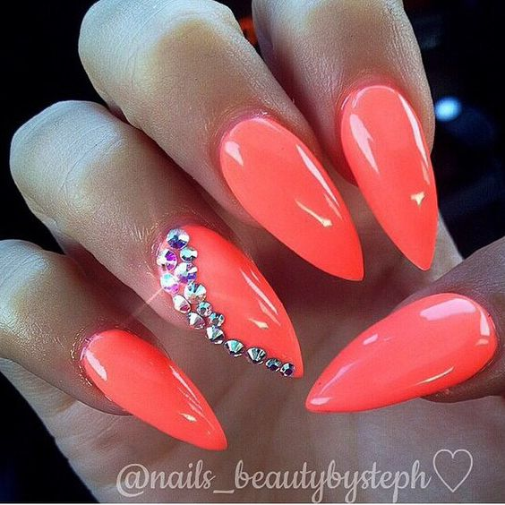 Prom nails, Nails and Long nails on Pinterest