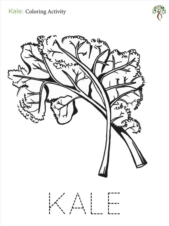 Kale Coloring Page Horse Coloring Pages Snake Coloring Pages
