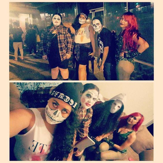 I totally threw off their scary look #perge @atm_orb    #oddball #poisonivy #halloween2015  #hallowbalooblockparty by skyyyzthelimit