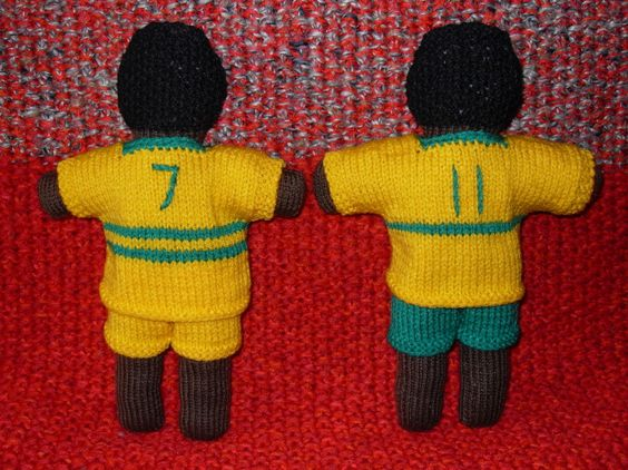 Uthando doll - Footballers - back view from Roz G. To learn more about our organization go to www.knit-a-square.com To meet our members and see more of our knitting and crochet go to http://forum.knit-a-square.com/