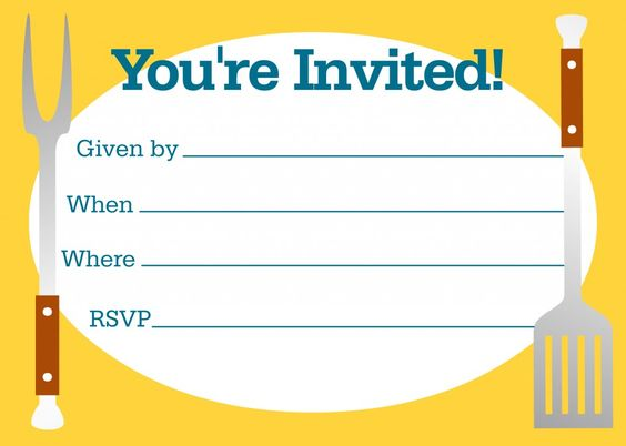 Free Bbq Party Invitations Templates | Bbq Party, Invitation