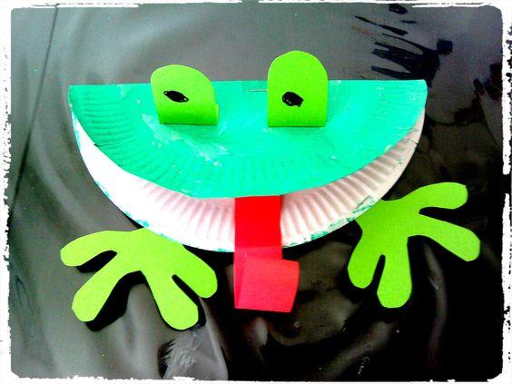 Bricolage enfant grenouille assiette en carton - Bricolage bougie en carton ...