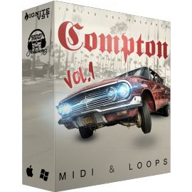 Compton Midi & Loops Vol 1 – brings you 5 Construction Kits filled with hard hitting westcoast sounds inspired by Compton the OST. Influences for this product include Xzibit, Ice Cube, Dr. Dre, Snoop Dogg, Eminem , Kendrick Lamar ,50 Cent and many more. This is definitely one unique MIDI & loop Kit. Filled with some of the hardest HD sounds to help inspire some certified bangers.