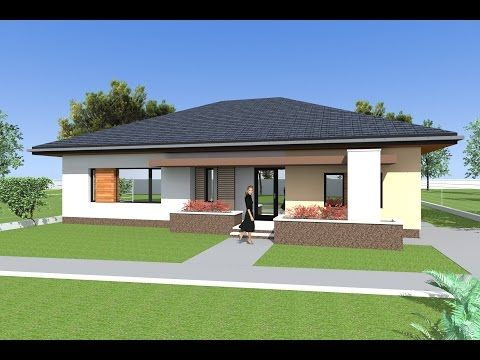 134m A Classic One Story House With An Envelope Roof 4 Rooms And A Large Living Room Youtube Flat House Design Bungalow Design Bungalow House Floor Plans