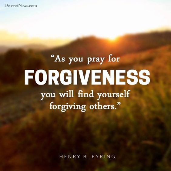"""As You Pray For Forgiveness, You Will Find Yourself"