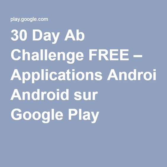 30 Day Ab Challenge FREE – Applications Android sur Google Play