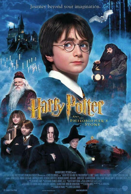 Poster Harry Potter And The Philosopher S Stone Philospher S Sorcerer 1 In 2020 Harry Potter Movies Harry Potter Movies