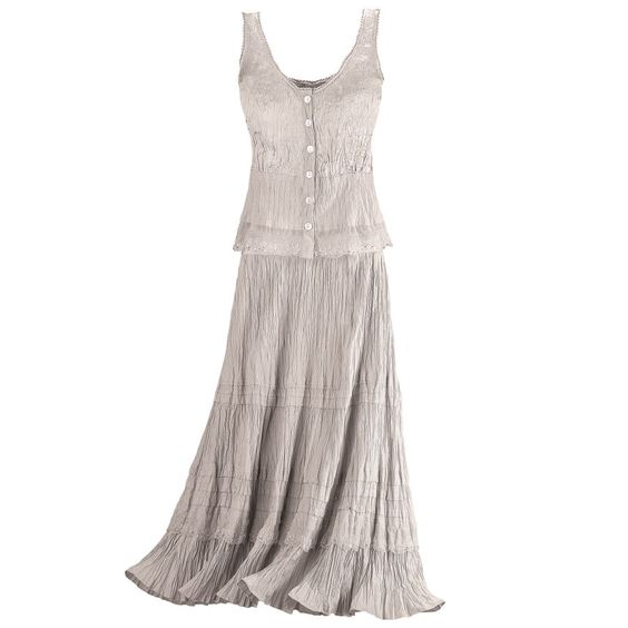 Shimmering Oyster Top and Skirt Set - New Age & Spiritual Gifts at Pyramid Collection