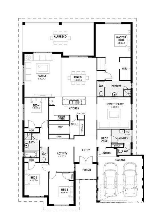 My Manhattan Perth Home Design Single Storey House Design Plan Home Design Wa Single Storey House Plans Floor Plans House Design