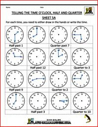 time worksheets telling the time half past quarter to etc homeschool math pinterest. Black Bedroom Furniture Sets. Home Design Ideas