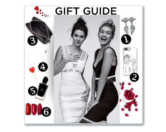 """""""Gift guide : Besties edition👭"""" by iconsoffashion ❤ liked on Polyvore featuring Anya Hindmarch, Balmain, Tatty Devine, Casetify, Bling Jewelry, Giorgio Armani, giftguide and besties"""
