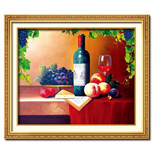 Amazon.com: DOMEI 3D Stamped Cross Stitch Kit, Wine with Fruits, 28.3 x 23.6inches