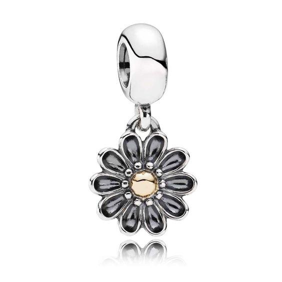 Pandora Charm Motiv Gerbera Sterling Silber Gold 791210