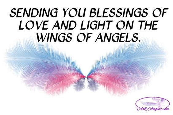 Sending you blessings of love and light on the wings of angels.  <3:
