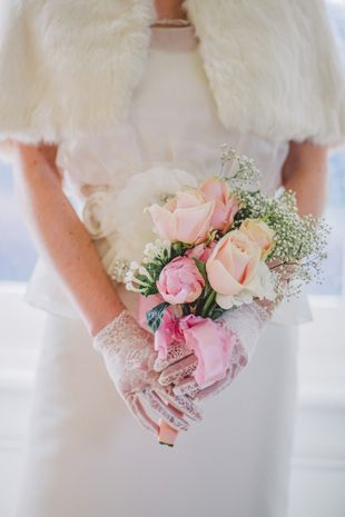pretty pastel bridal bouquet | onefabday.com