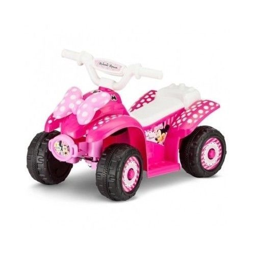 Disney minnie mouse electric battery powered atv 4 wheeler for Motorized quad for toddler