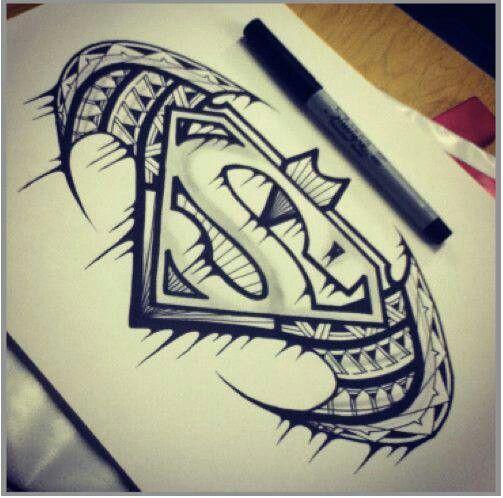 Tribal with Superman logo