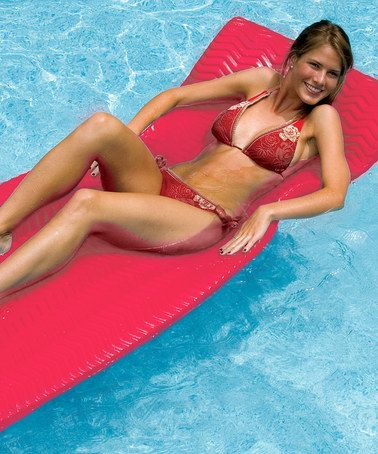 Look what I found on #zulily! Coral SoftSkin Floating Pool Raft #zulilyfinds