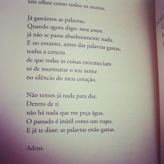 Adeus - Eugénio de Andrade