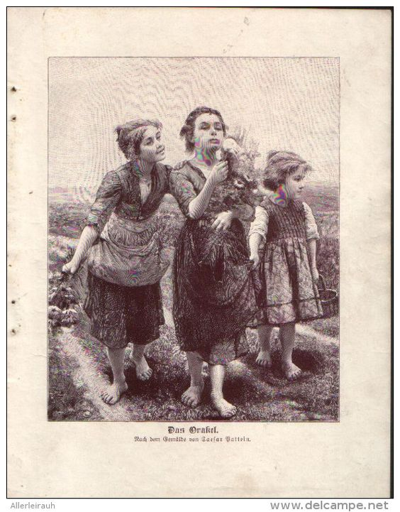 Das Orakel - Druck, entnommen aus Velhagen und Klasings- Monatsheften/ 1909