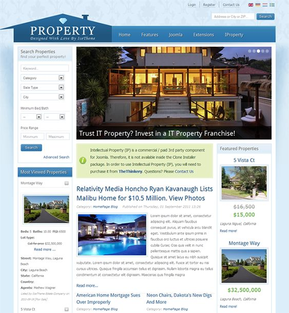 10 best 10 of the Best Joomla Real Estate Templates images on - mortgage templates