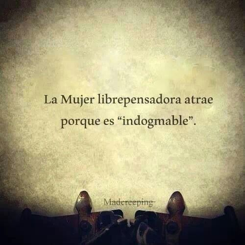 Mujer indogmable