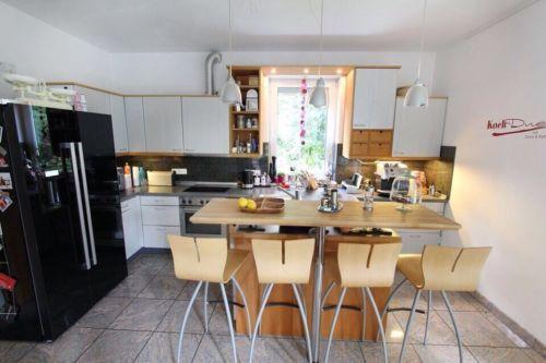 Küche Einbauküche modern mit Theke in Nordrhein-Westfalen