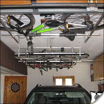 Crean un sistema para guardar bicicletas en techos de - Guardar bicicletas en poco espacio ...