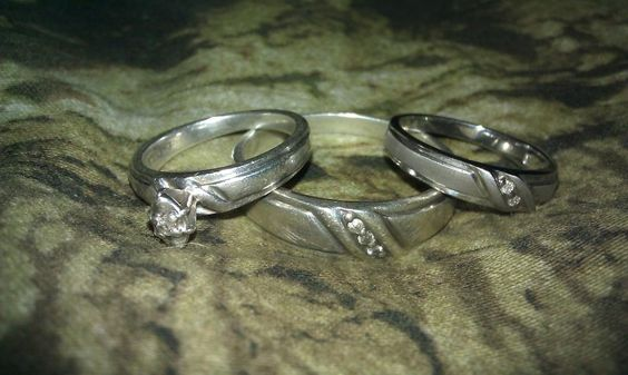 Mine n my baby's wedding set
