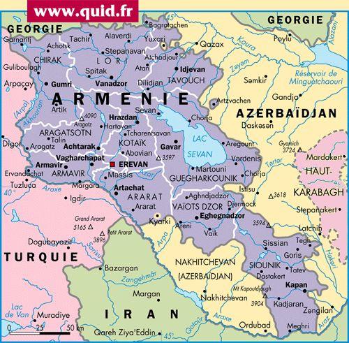 Carte: Arménie - Politique